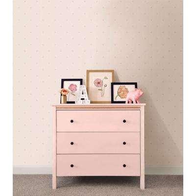 Pink Mini Floral Geometric Wallpaper