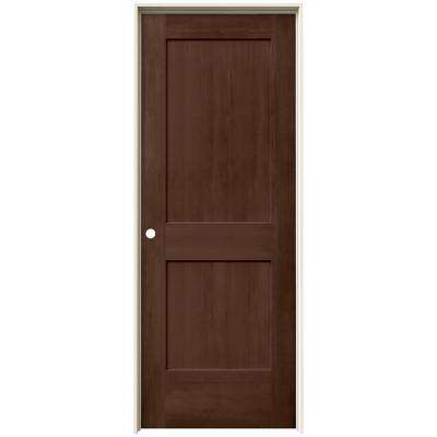 30 in. x 80 in. Monroe Milk Chocolate Stain Right-Hand Solid Core Molded Composite MDF Single Prehung Interior Door