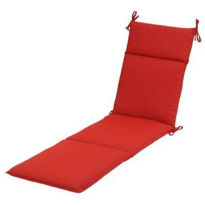 Ruby Tweed Outdoor Chaise Cushion