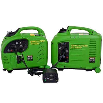 Energy Storm 2,200/2,800-Watt Gasoline Powered Remote Start Inverter Generator with Connection System
