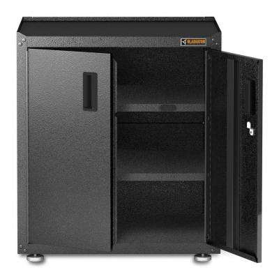 Ready to Assemble 31 in. H x 28 in. W x 18 in. D Steel 2-Door Freestanding Garage Cabinet in Hammered Granite