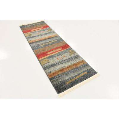 Fars Nava Light Blue 2' 0 x 6' 0 Runner Rug