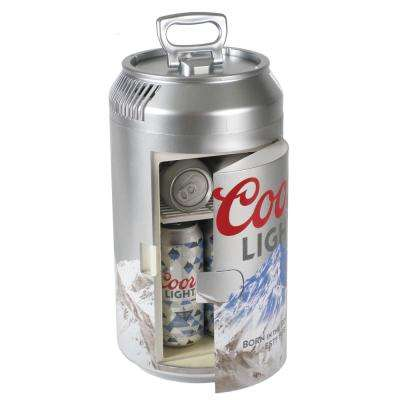 0.65 cu. ft. Coors Light Mini Fridge in Silver