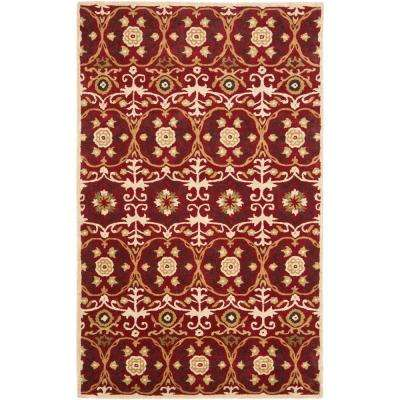 Soho Red/Multi 5 ft. x 8 ft. Area Rug