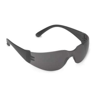 BULLDOG Readers Polycarbonate Gray Single Wraparound 2.5-Diopter Lens Bifocal Safety Glasses