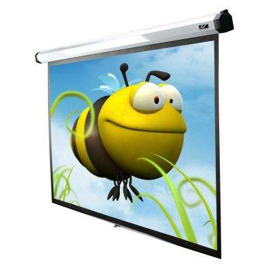 100 in. Electric Motorized Projection Screen with 24 in. Drop