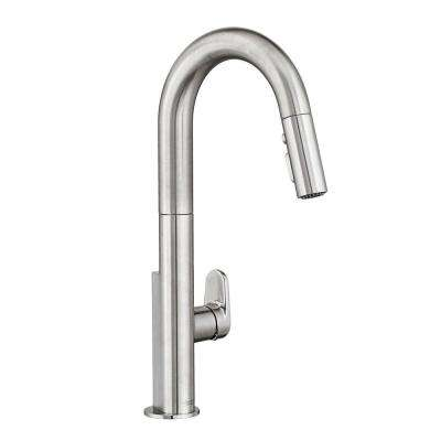 Beale Single-Handle Pull-Down Sprayer Kitchen Faucet in Stainless Steel