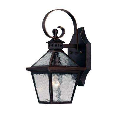 Bay Street Collection 1-Light Architectural Bronze Outdoor Wall-Mount Fixture