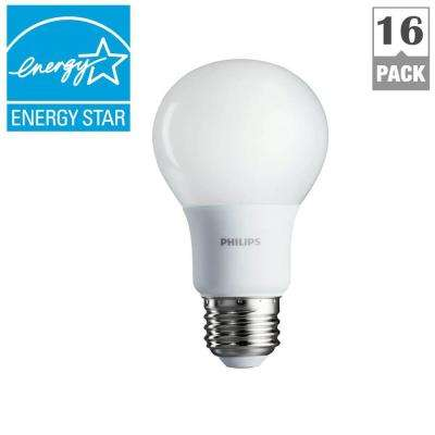 40W Equivalent Soft White A19 Non-Dimmable LED Household Light Bulb (16-Pack)