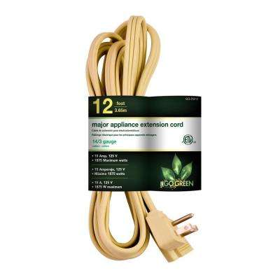 12 ft. 14/3 SPT A/C Extension Cord - Beige