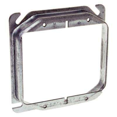 4 in. Square Two Device Mud Ring, Raised 5/8 in. (25-Pack)