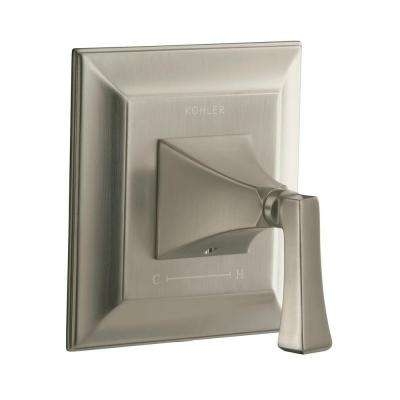 Memoirs 1-Handle Stately Thermostatic Valve Trim Kit in Vibrant Brushed Nickel - Deco Lever Handle (Valve Not Included)