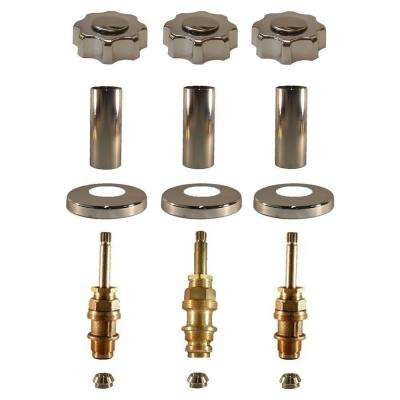 3 Valve Rebuild Kit for Tub and Shower with Chrome Handles for Price Pfister