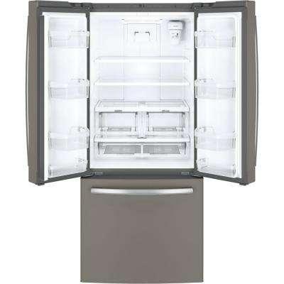 30 in. W 20.8 cu. ft. French Door Refrigerator in Slate, Fingerprint Resistant