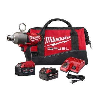 M18 FUEL 18-Volt Lithium-Ion Brushless 7/16 in. Hex Cordless High Torque Impact Wrench Kit