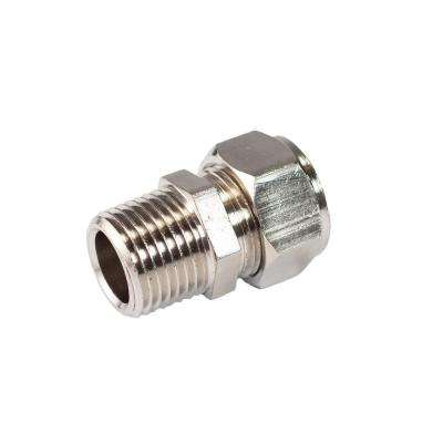 MaxLine 1/2 in. x 3/8 in. Brass Compression Male Adapter