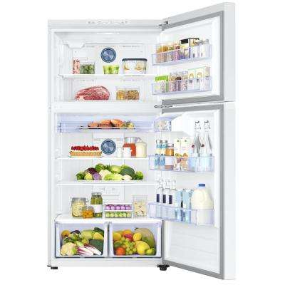 21.1 cu. ft. Top Freezer Refrigerator with FlexZone Freezer in White, Energy Star