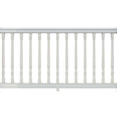 Premier 6 ft. x 36 in. White Vinyl Stair Rail with Yorktown Spindles