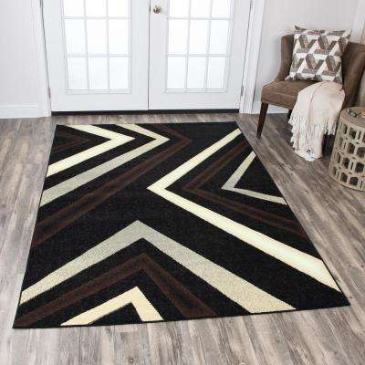 Xcite Black/Brown 5 ft. 2 in. x 7 ft. 3in. Rectangle Area Rug