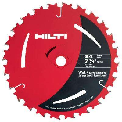 7-1/4 in. x 24-Teeth Pressure Treated and Wet Lumber Circular Saw Blades (50-Pack)
