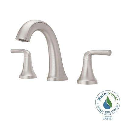 Ladera 8 in. Widespread 2-Handle Bathroom Faucet in Spot Defense Brushed Nickel