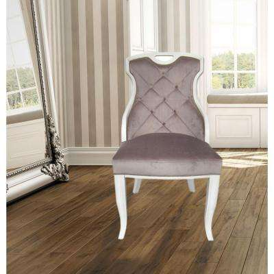 Sofia Mocha Velvet Sexy Back Dining Chair with Handle (Set of 2)