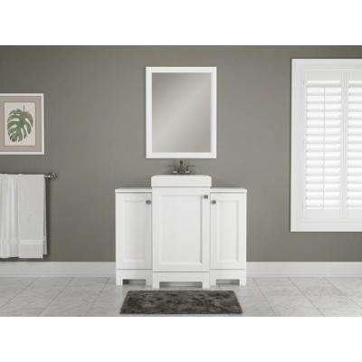 Shaila 18-1/2 in. W Bath Vanity in White with Cultured Marble Vanity Top in White with White Sink
