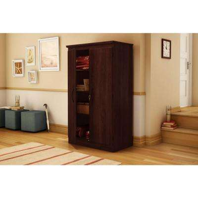 Morgan Laminate Particleboard Storage Cabinet with Shelves in Royal Cherry