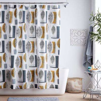 Sumi Cotton Percale Shower Curtain