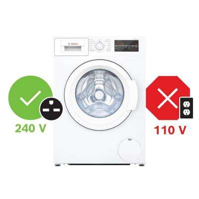 300 Series24 in. 2.2 cu. ft. 240-Volt White High-Efficiency Front Load Compact Washer, ENERGY STAR