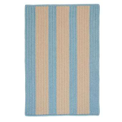 Boat House Light Blue 2 ft. x 8 ft. Braided Accent Rug