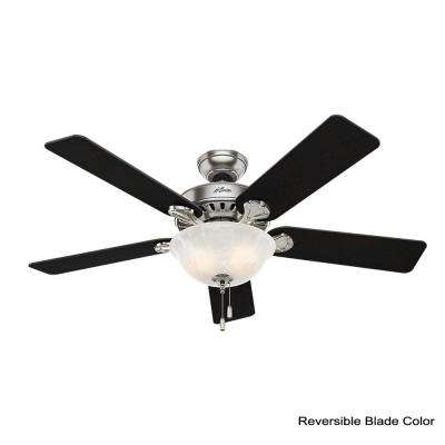 Pro's Best Five Minute 52 in. Indoor Brushed Nickel Ceiling Fan with Light Kit