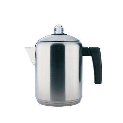 4 to 8-Cup Stovetop Percolator in Brush Stainless Steel