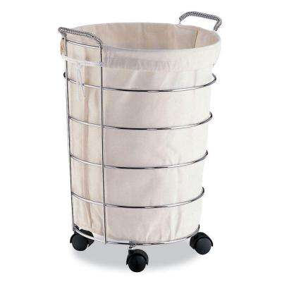 Laundry Basket with Canvas Bag