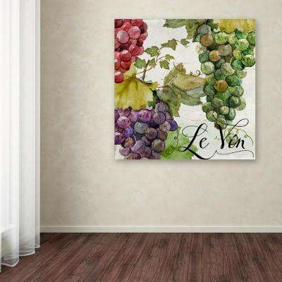 "18 in. x 18 in. ""Wines of Paris II"" by Color Bakery Printed Canvas Wall Art"