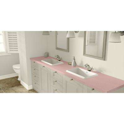 2 in. x 3 in. Laminate Countertop Sample in Retro Renovation First Lady Pink with Standard Matte Finish