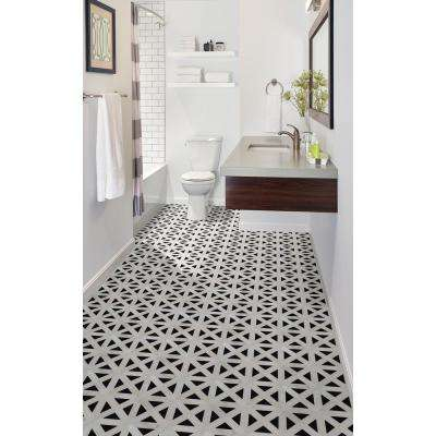 Retro Fretwork 12 in. x 12 in. x 10mm Polished Marble Mesh-Mounted Mosaic Tile (10 sq. ft. / case)