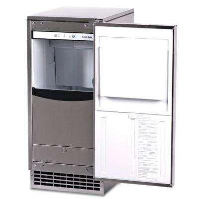 15 in. 85 lb. Freestanding Ice Maker in Stainless Steel