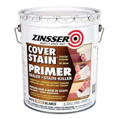 5-gal. Cover Stain White Flat Primer
