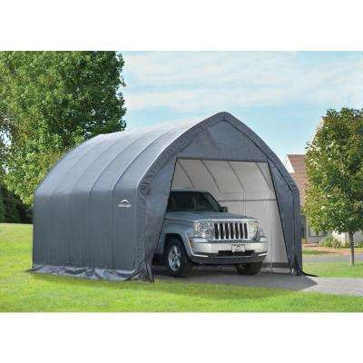 Garage-in-a-Box 11 ft. W x 20 ft. D x 9 ft. H Garage Kit for Crossover/Small Truck W/Rust-Resistant Steel Frame in Gray