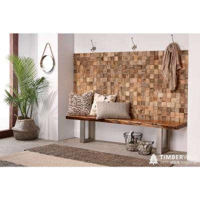 3/8 in. x 8-1/2 in. x 19-3/4 in. Reclaimed Cube Pine Plank