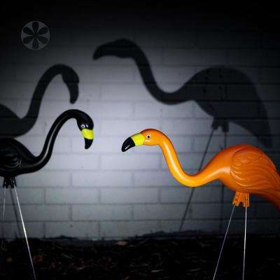 Spooky Flamingo Plastic Halloween Yard Decor Orange and Black (10-Pack)