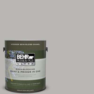 Home Decorators Collection 1-gal. #HDC-MD-26 Sonic Silver Semi-Gloss Enamel Interior Paint