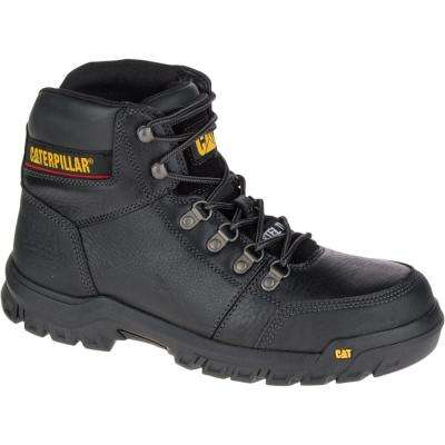 Outline Men's Black Steel Toe Work Boot