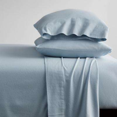Solid Organic Flannel Sheet Set