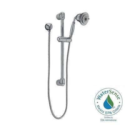 FloWise Traditional 3-Spray Wall Bar Shower Kit in Satin Nickel
