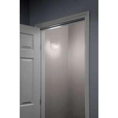 10-Watt White Integrated LED Flush Mount Closet Light with Pull Chain