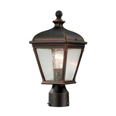 Malford Dark-Rubbed Bronze Outdoor Post-Mount Lantern
