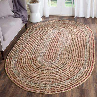 Cape Cod Natural/Multi 4 ft. x 6 ft. Oval Area Rug