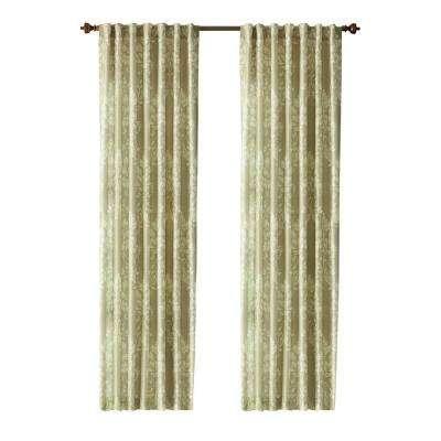 Tonal Damask Back Tab Curtain